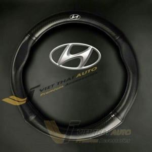 Bọc Vô Lăng Carbon (Logo Hyundai)
