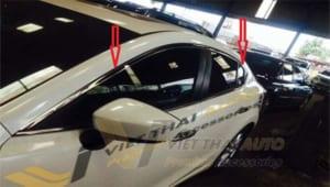 Nẹp Viền Chân Cong Kính Full Cho Mazda 6