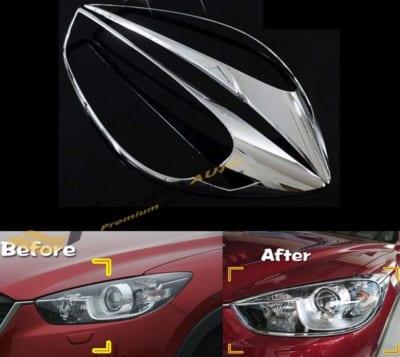 Ốp Viền Đèn Pha (Trước) Mạ Mazda 2