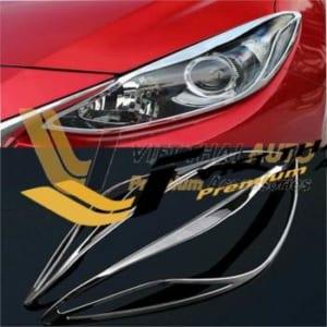 Ốp Viền đèn trước (pha) Mazda 3