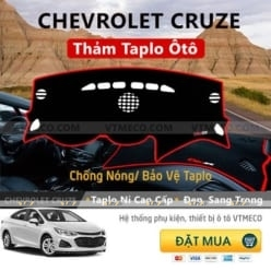 Thảm Taplo Nỉ Chevrolet Cruze