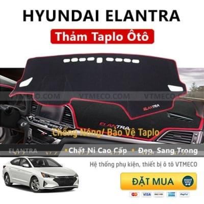 Thảm Taplo Nỉ Hyundai Elantra
