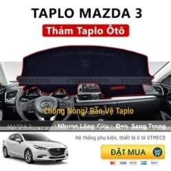 Thảm Taplo Lông Cừu Mazda 3