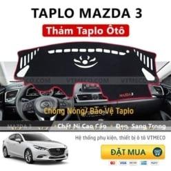 Thảm Taplo Nỉ Mazda 3