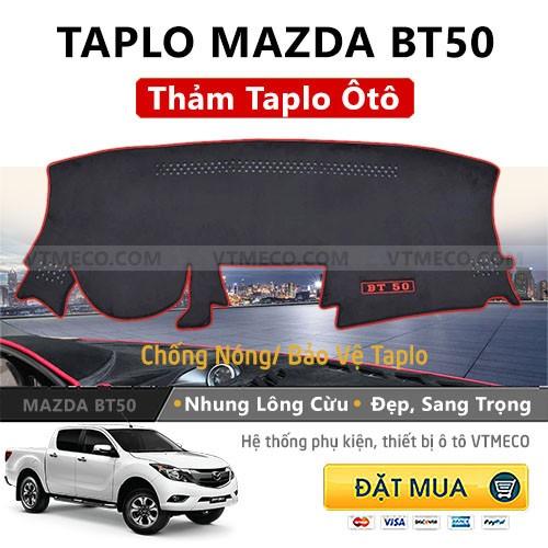 Thảm Taplo Nhung Lông Cừu Mazda BT50