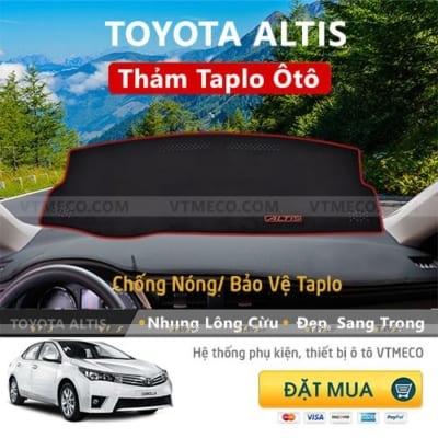 Thảm Taplo Nhung Lông Cừu Toyota Altis