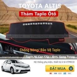 Thảm Taplo Nỉ Toyota Altis