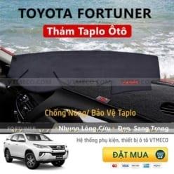 Thảm Taplo Nhung Lông Cừu Toyota Fortuner