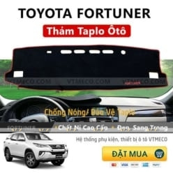 Thảm Taplo Nỉ Toyota Fortuner