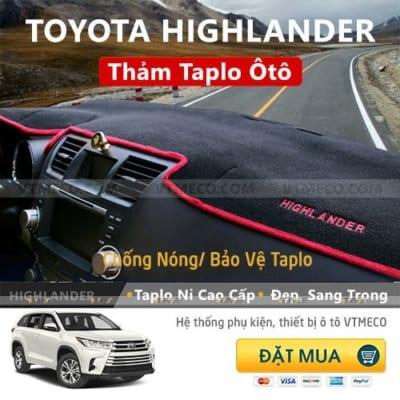 Thảm Taplo Toyota Highlander