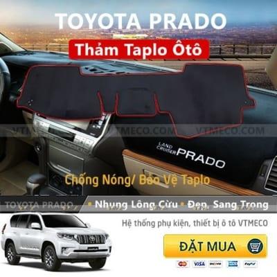 Thảm Taplo Nhung Lông Cừu Toyota Prado