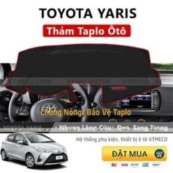 Thảm Taplo Nhung Lông Cừu Toyota Yaris