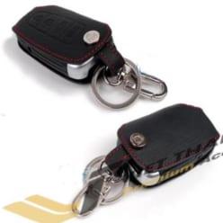 Bao da chìa khóa đen chỉ đỏ Tucson