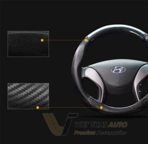 Bọc vô lăng Carbon cao cấp logo theo xe