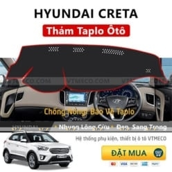 Thảm Taplo Nhung Lông Cừu Hyundai Creta