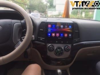 Lắp Màn Hình Ô Tô Đầu DVD Android 3G, 4G, Wifi, GPS Cho Xe Hyundai Santafe