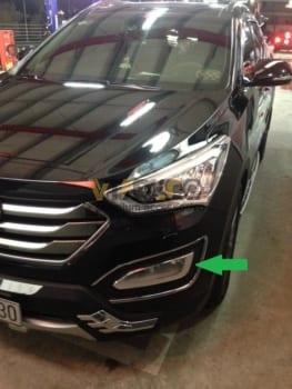 Ốp Viền Đèn Gầm Hyundai Santafe
