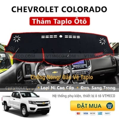 Thảm Taplo Chevrolet Colorado