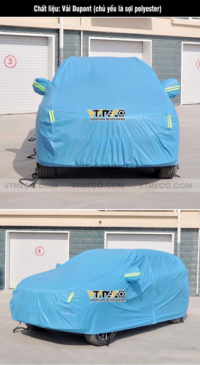 bạt phủ ô tô dupont xanh dương