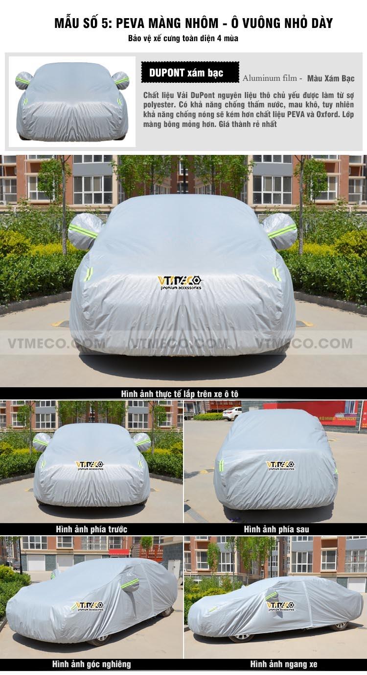 bạt phủ xe ô tô vải dupont