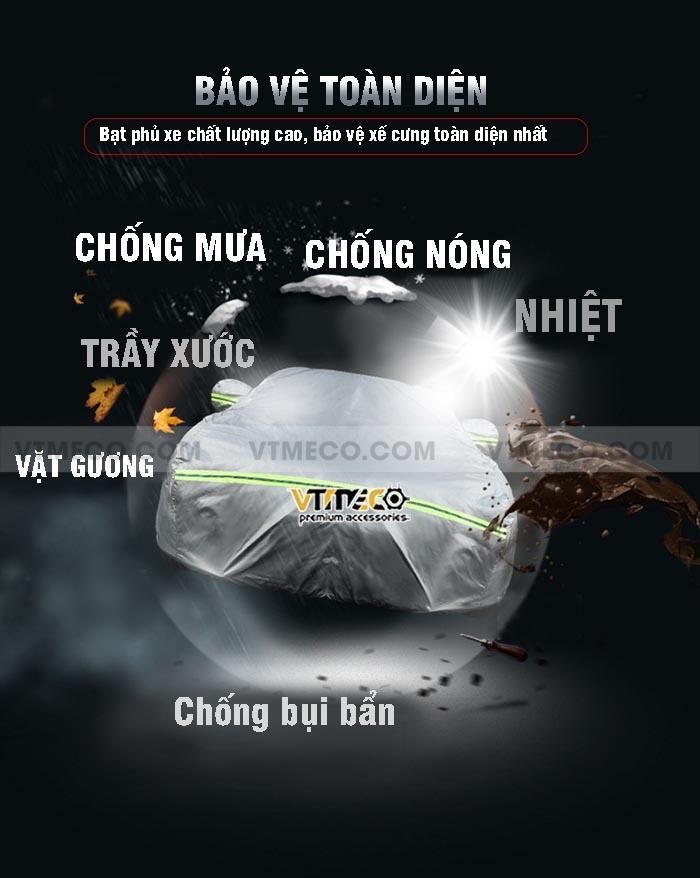 lợi ích sử dụng bạt phủ xe ô tô